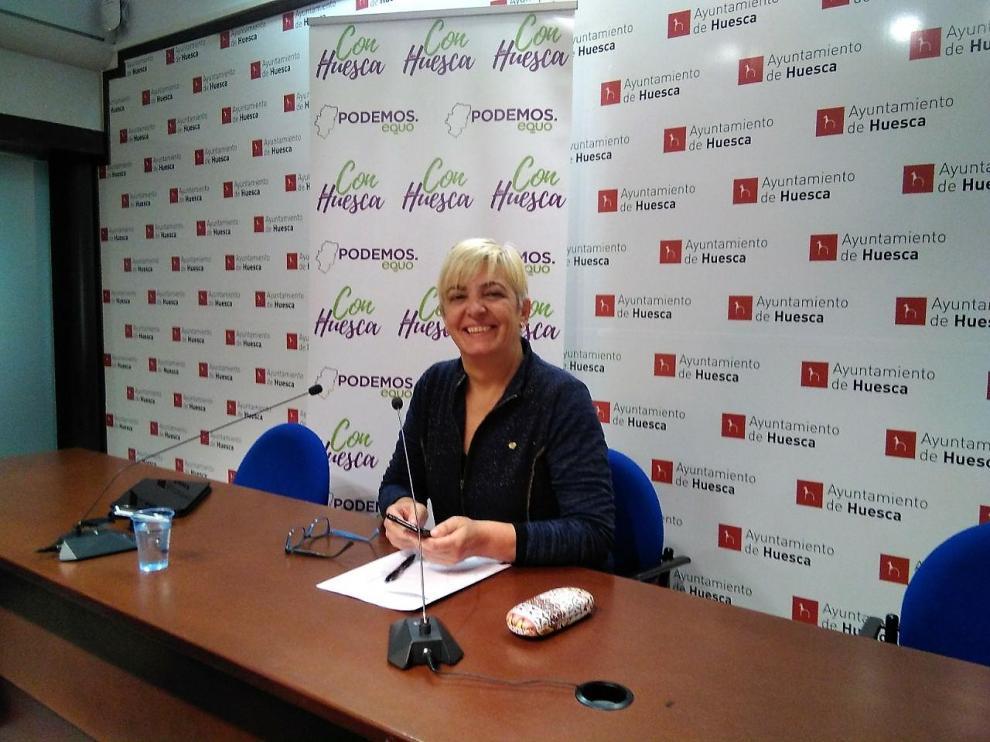 Pilar Novales, portavoz de Con Huesca Podemos Equo.