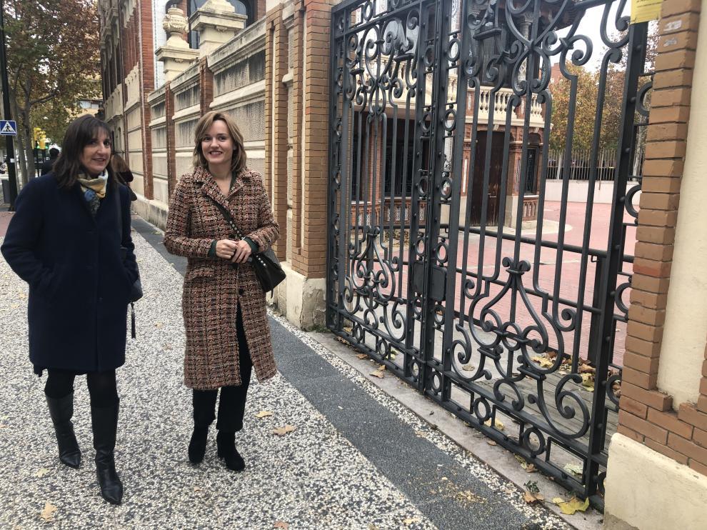 Lola Ranera y Pilar Alegría, en Casa Solans