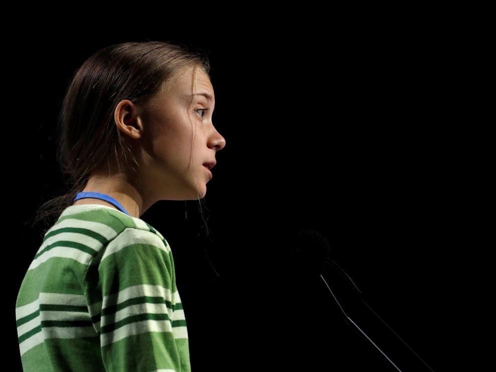 Greta Thunberg en la cumbre de Madrid.