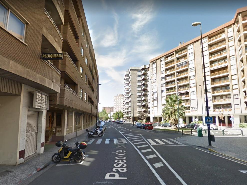El atropello se produjo a la altura del número 5 del paseo de los Rosales, en Zaragoza.