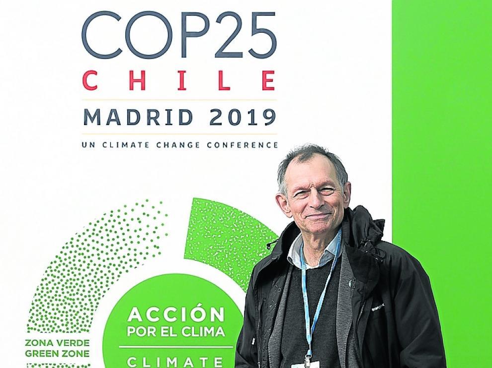 El director de Ecodes, ayer en la Cumbre del Clima.