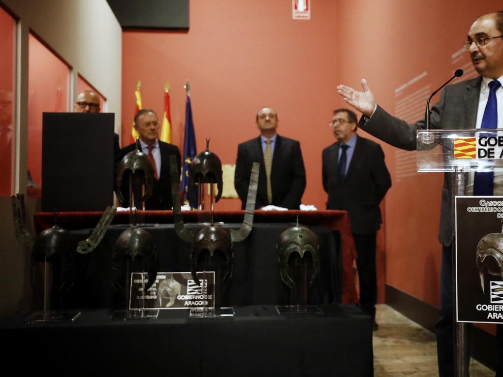 Lambán, este viernes en el Museo de Zaragoza