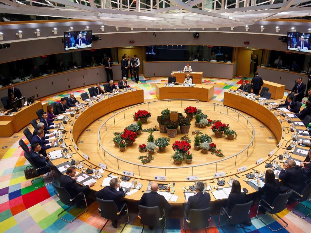 Vista general de la cumbre en Bruselas, este viernes.
