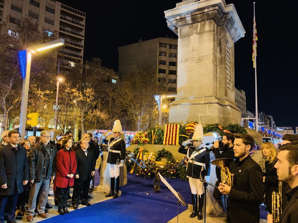 Acto de homenaje al Justicia de Aragón el año pasado.