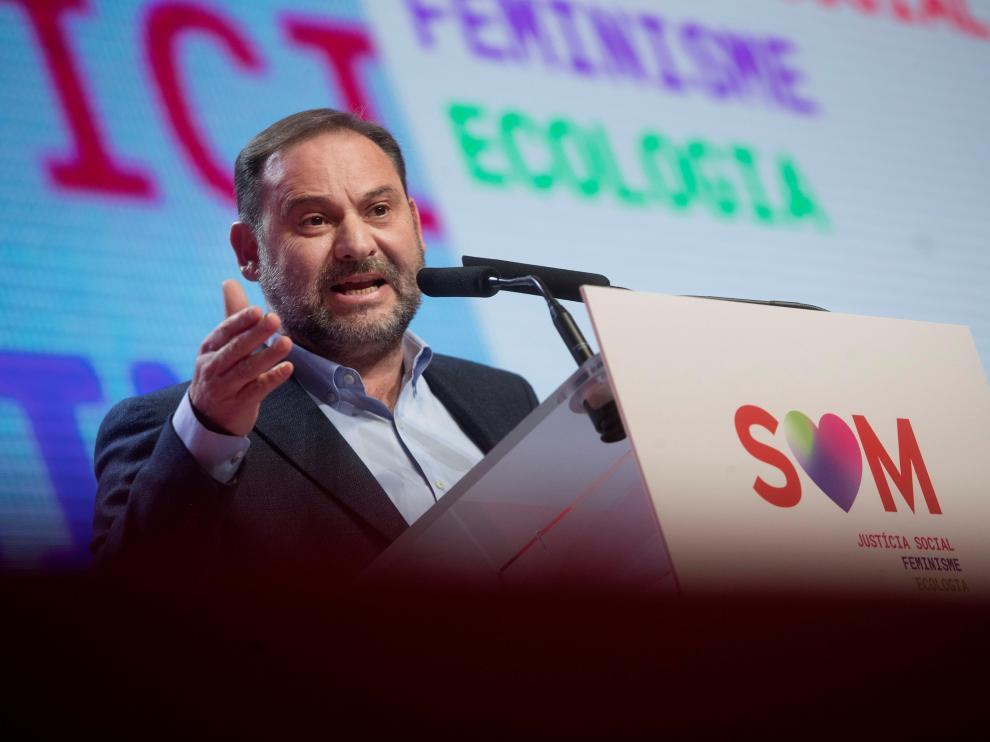 El secretario de organización del PSOE, José Luis Ábalos, durante la clausura el pasado sábado del XIV congreso del PSC.