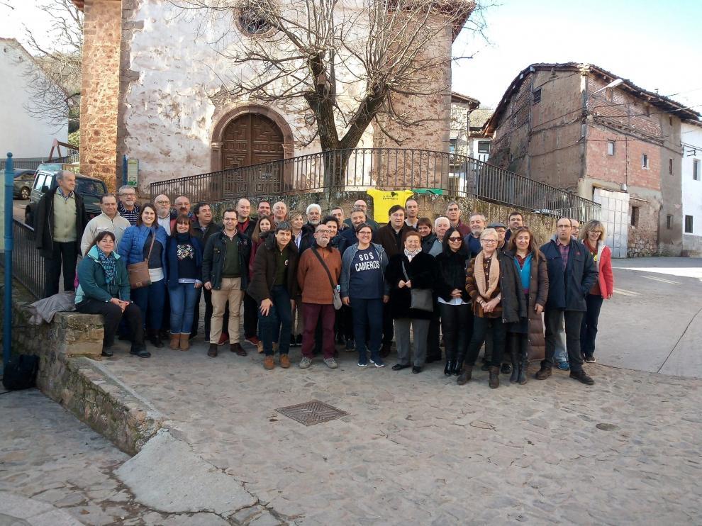 Representantes de la España Vaciada reunidos en Nieva de Cameros.