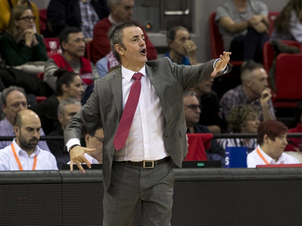 Porfirio Fisac, entrenador del Casademont Zaragoza.