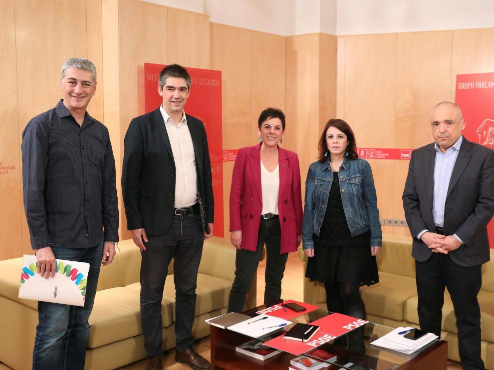 Reunión de PSOE y Bildu este martes.