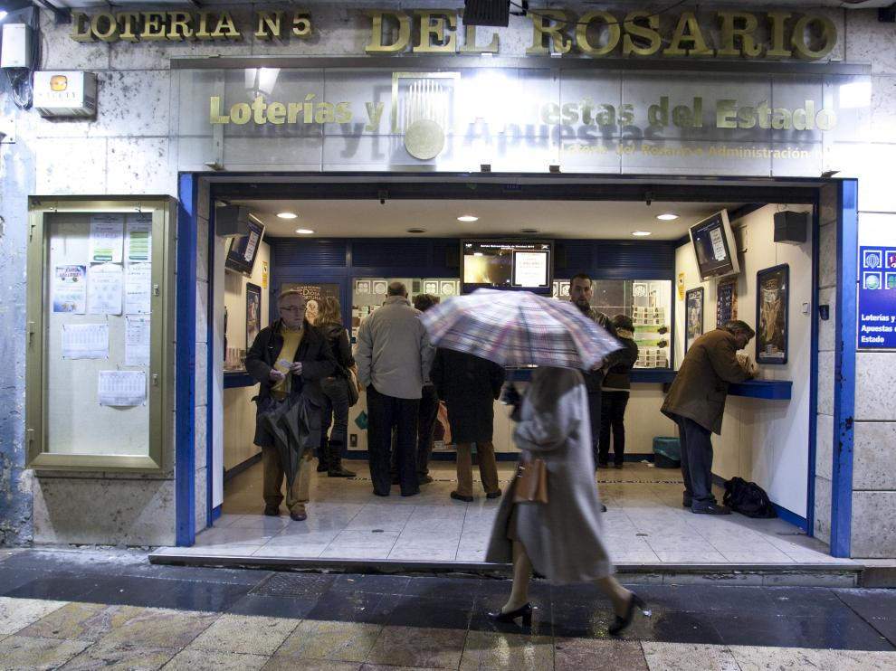 Administración de Lotería en la calle de Don Jaime I de Zaragoza.