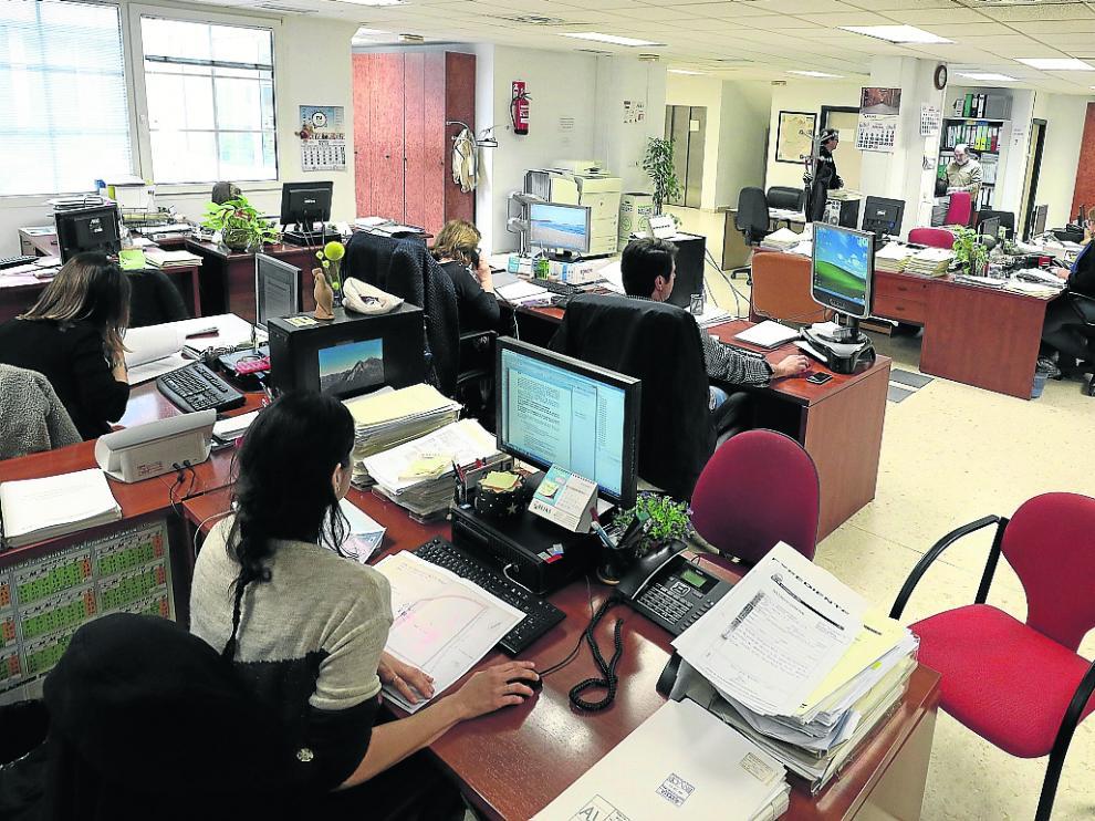Funcionarios en el Ayuntamiento de Badajoz