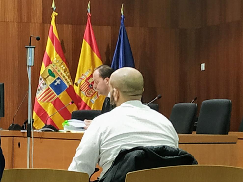 El acusado, durante el juicio celebrado este viernes en la Audiencia Provincial.