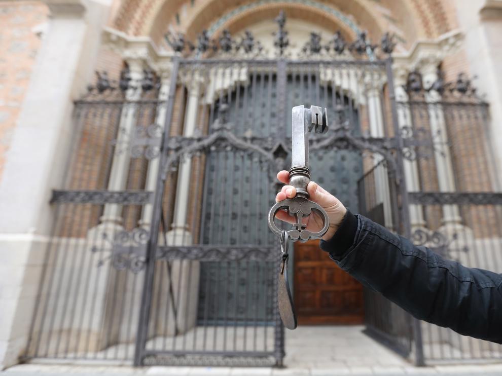 Llave de la puerta de la Catedral de Teruel/18-12-19/foto:Javier Escriche [[[FOTOGRAFOS]]]