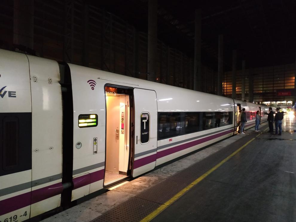 El temporal interrumpe el trayecto de AVE entre Aragón y Madrid