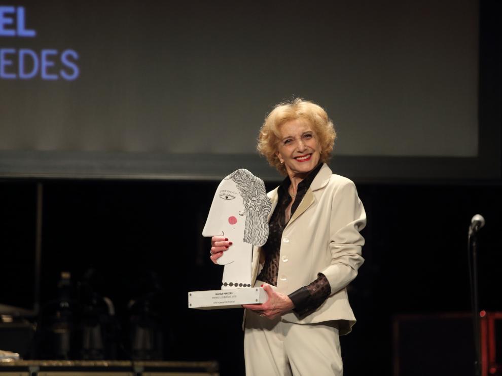 Marisa Paredes recibió el premio Luis Buñuel en la última edición del Festival de Cine de Huesca.