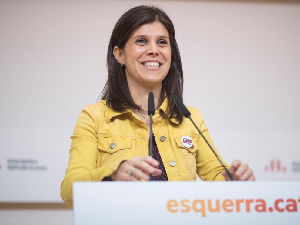 Marta Vilalta, portavoz de ERC, anunció ayer que el acuerdo con el PSOE está prácticamente cerrado.