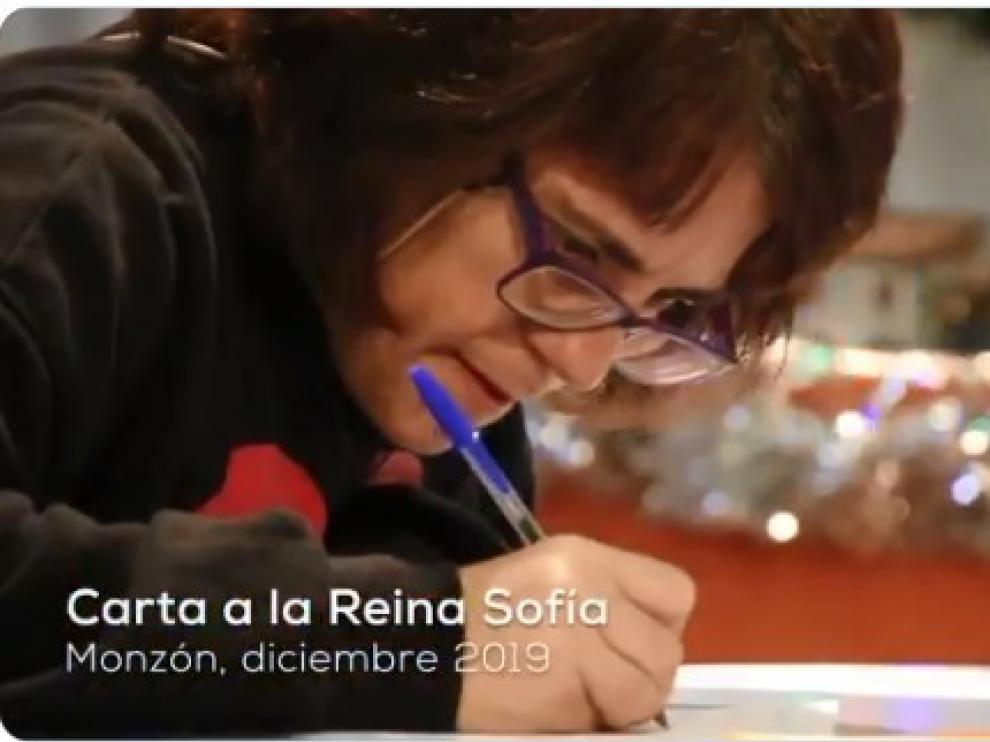 Captura del vídeo enviado a doña Sofía.