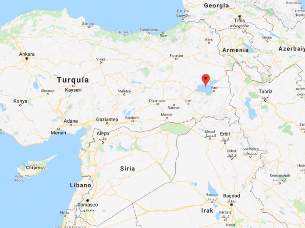 Ocurrió en el lago de Van, en el este de Turquía.