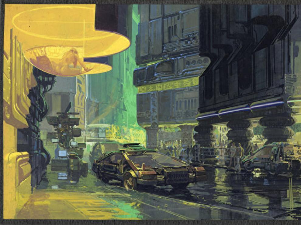 Una imagen de la exposición 'Future Cities', que muestra escenarios de películas.