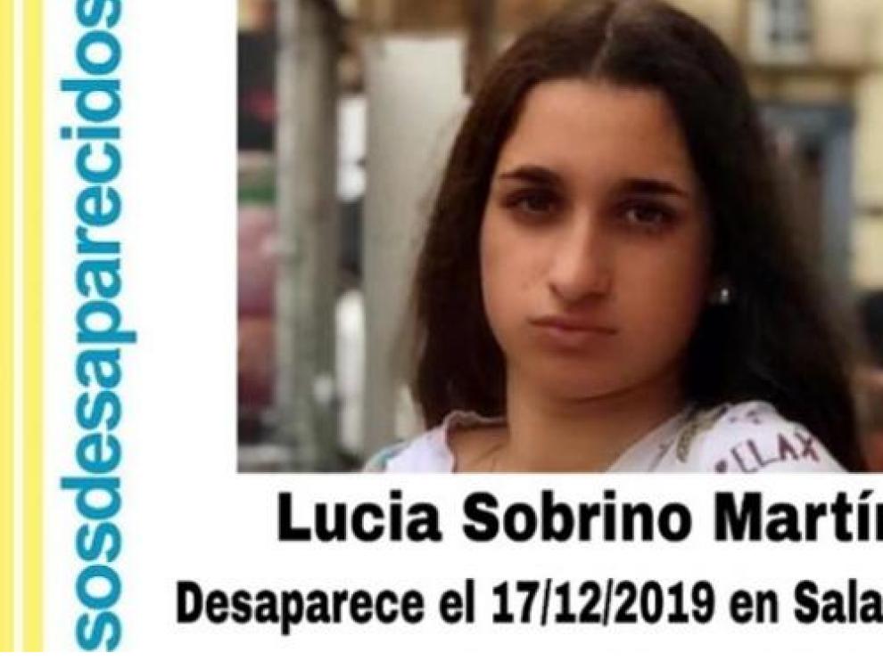 Cartel de la desaparición de Lucía Sobrino Martín.