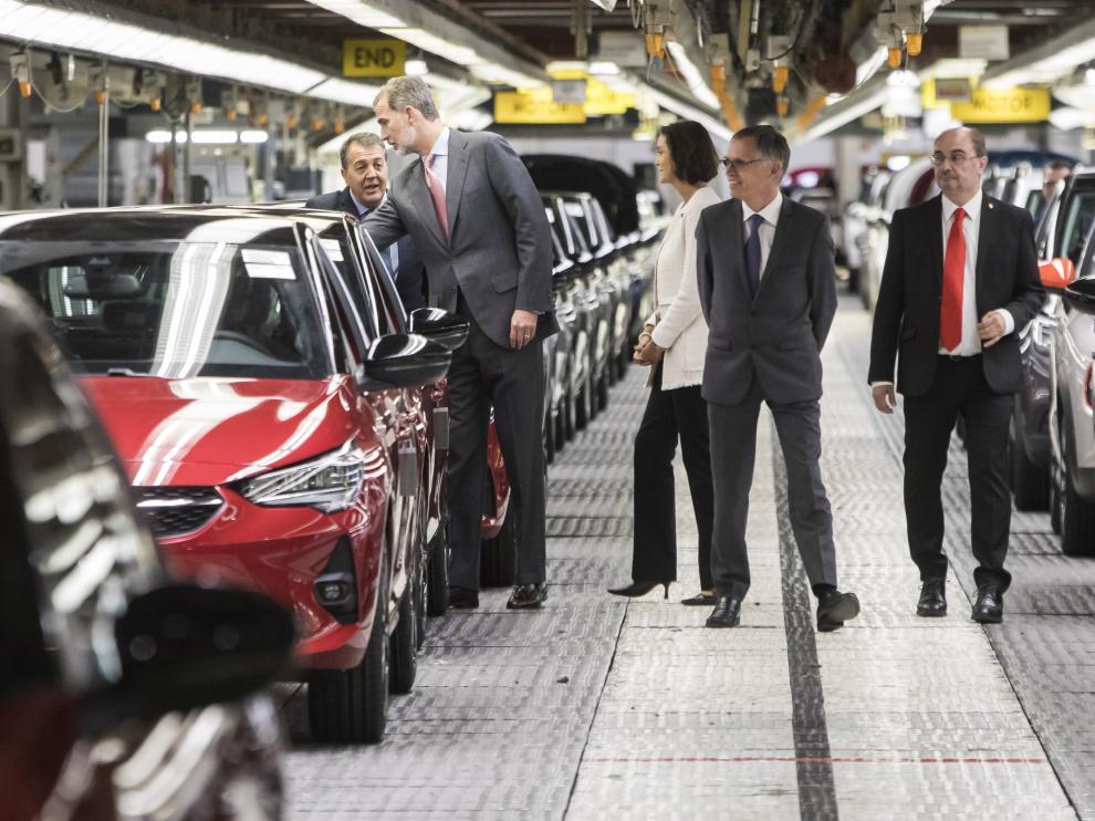 Visita del Rey a la planta de Opel PSA en Figueruelas, el 7 de octubre pasado.