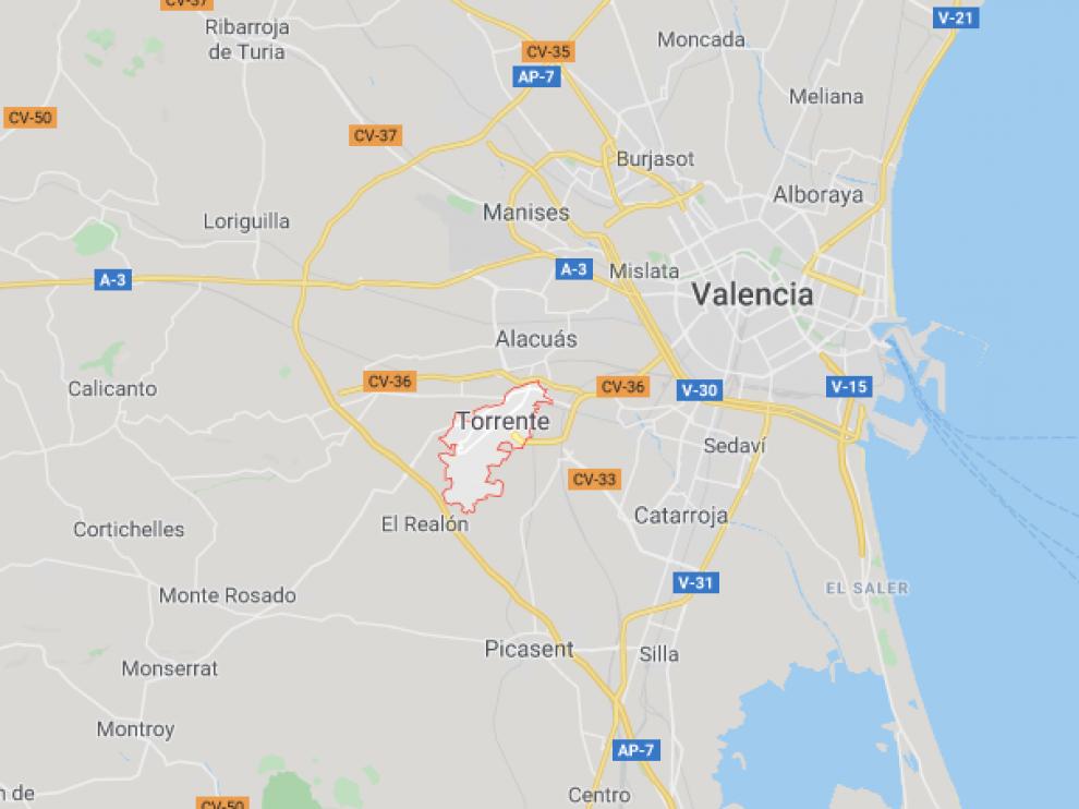 El suceso tuvo lugar en la localidad valenciana de Torrent.