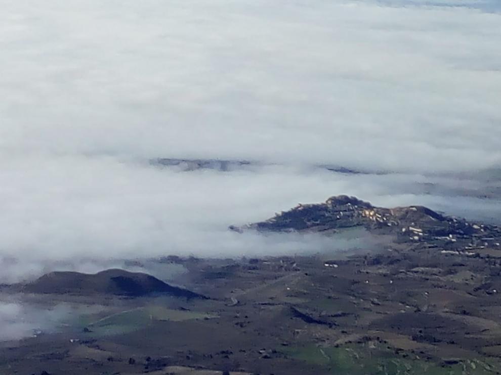 Niebla en la comarca de la Hoya de Huesca