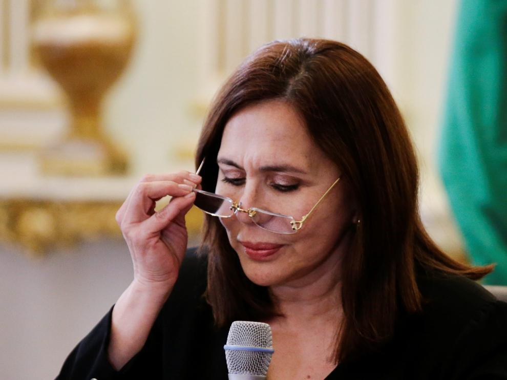 La ministra de Asuntos Exteriores de Bolivia, Karen Logaric