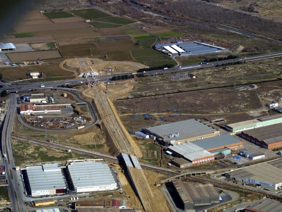 Imagen aérea del polígono zaragozano de Malpica.