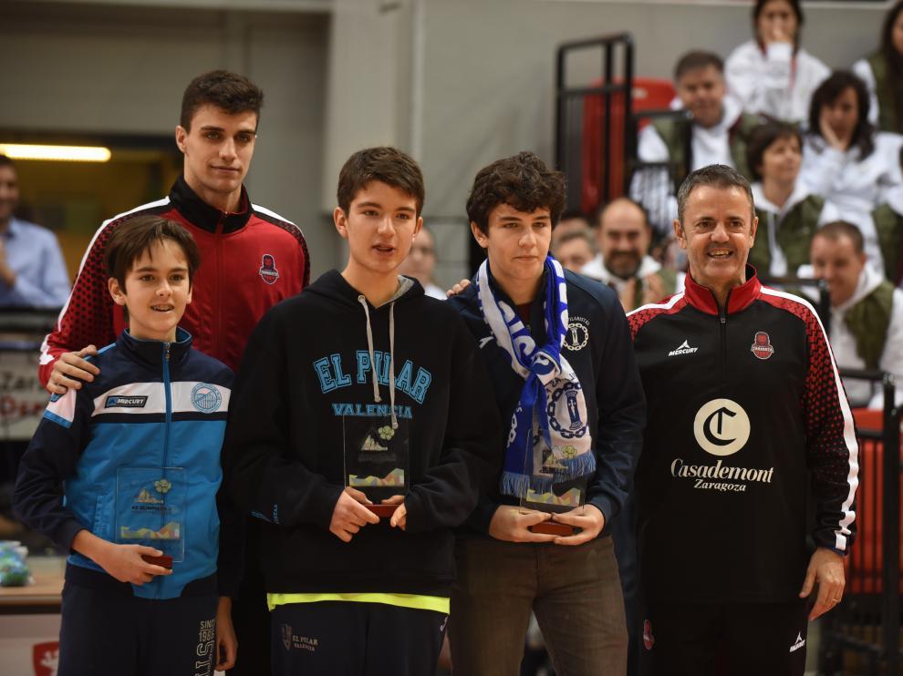 Alocén y Fisac, en la entrega de medallas de la Olimpiada Marianista.