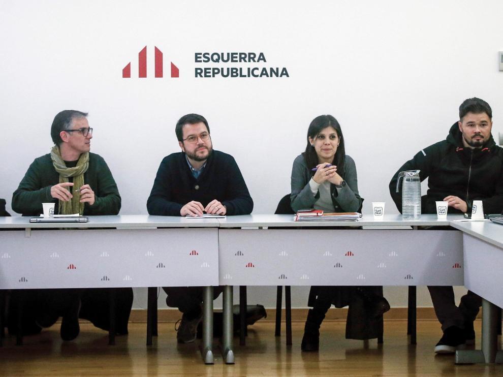 Reunión de la Ejecutiva de ERC este lunes