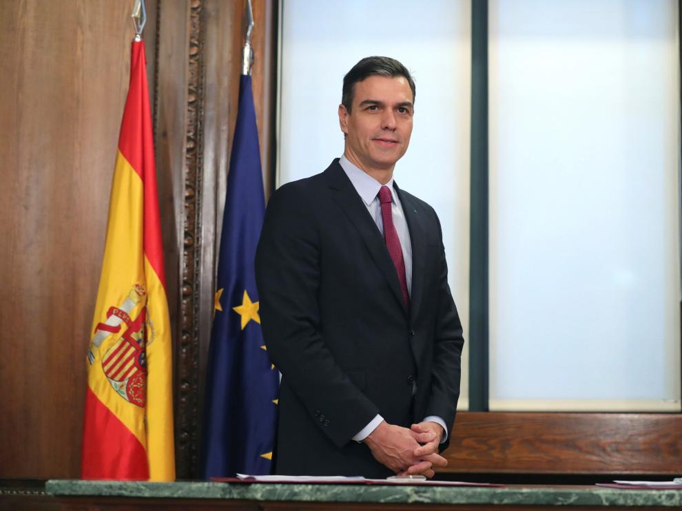 Sánchez e Iglesias firman el programa de su futuro gobierno de coalición.