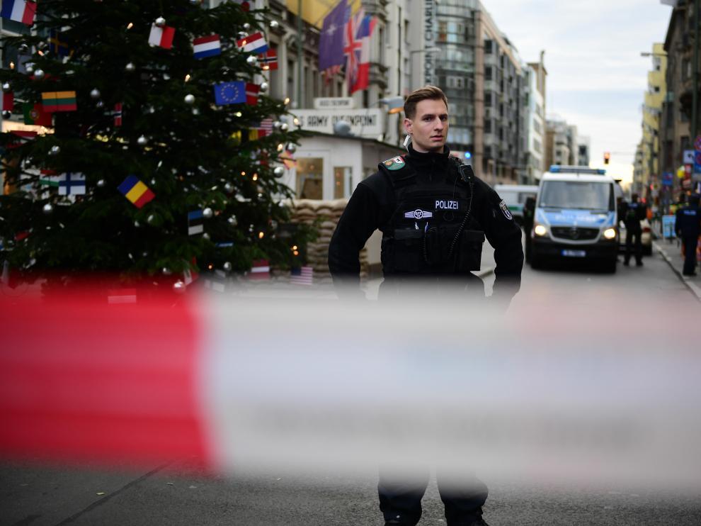 Dispositivo policial desplegado en Berlín por los disparos