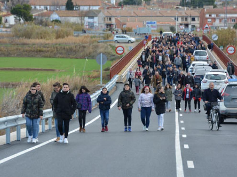 El puente de Gelsa se reabrió el 20 de diciembre.