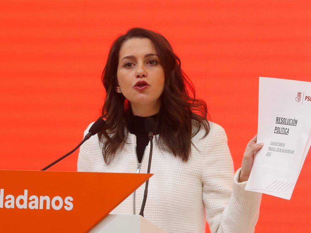 Inés Arrimadas, este jueves.