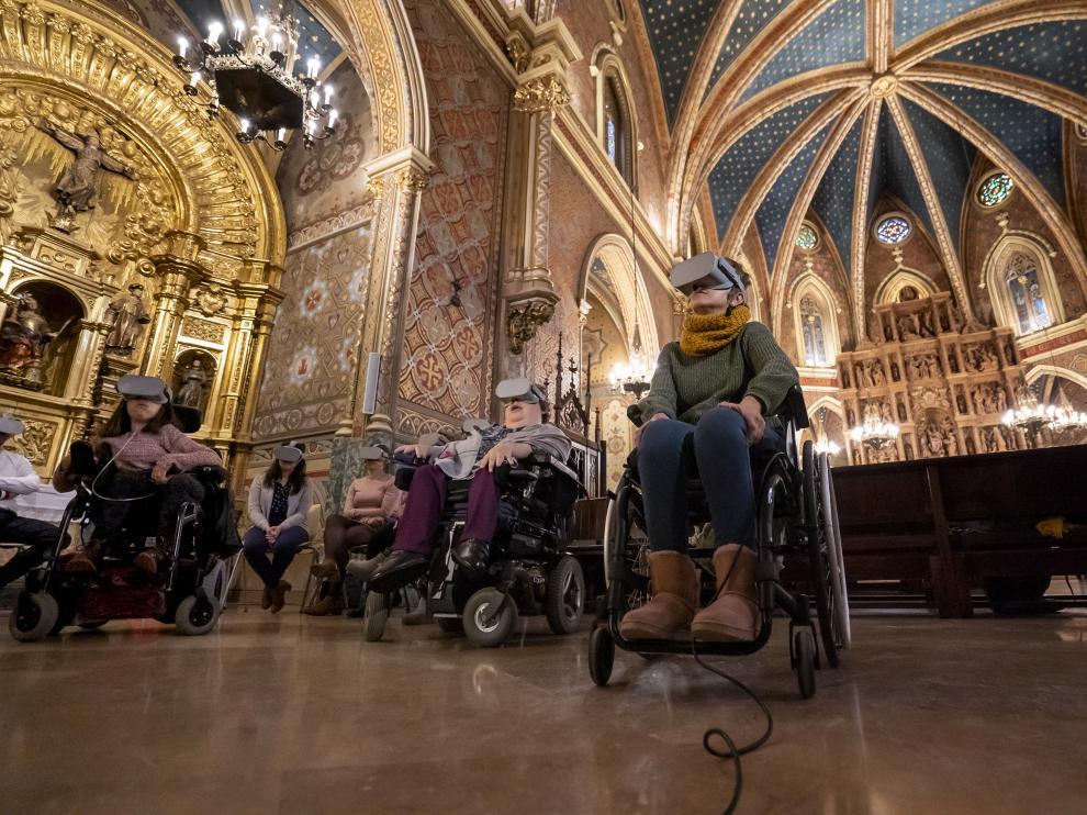 jornadas de por la integracion de los disminuidos fisicos y psiquicos en el mausoleo de los amantes de Teruel. Foto Antonio garcia/bykofoto. 03/12/19 [[[FOTOGRAFOS]]]