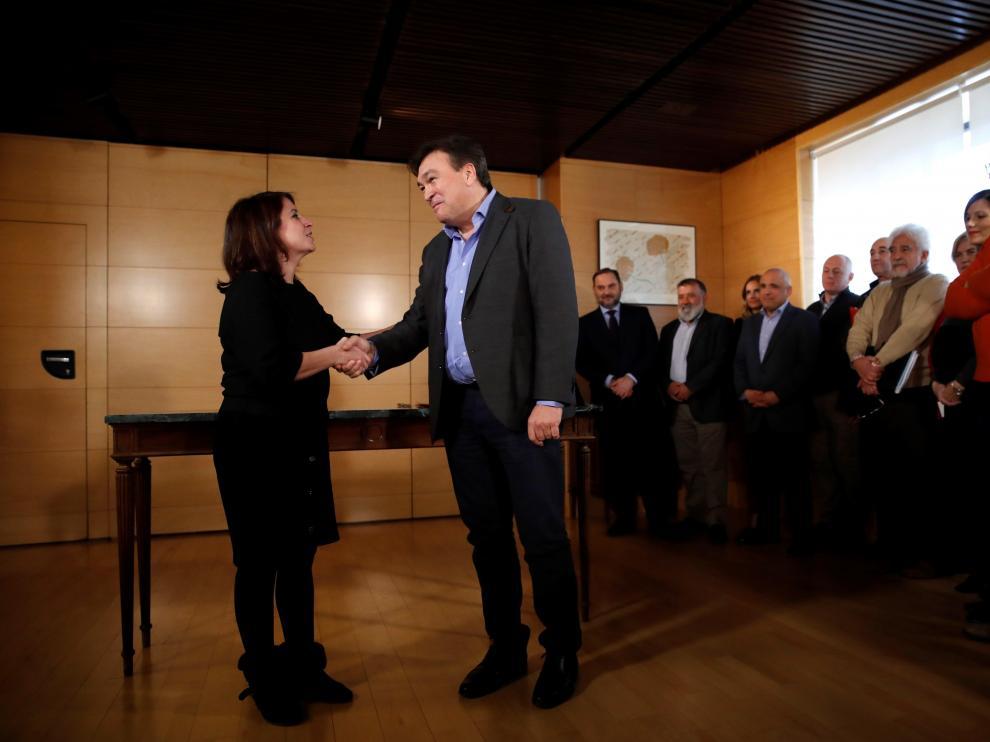 Teruel Existe firma el pacto de investidura con el PSOE