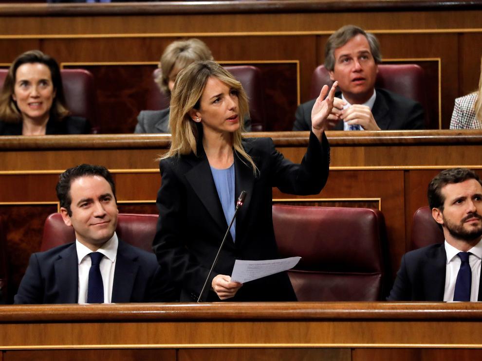 Cayetana Álvarez de Toledo en la primera sesión del debate