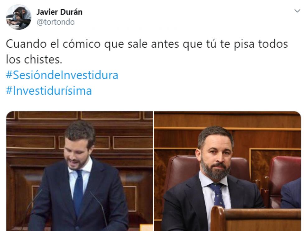 Los mejores memes de la primera jornada del debate de investidura de Sánchez
