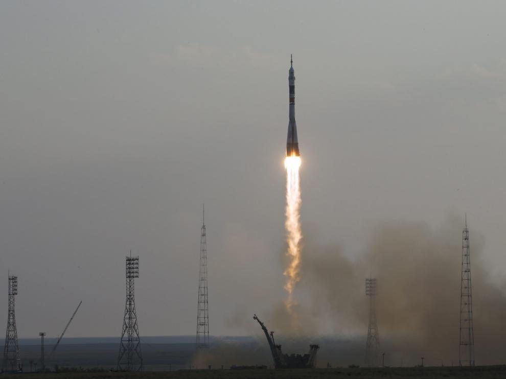 Un misión lanzada hacia la Estación Espacial Internacional.