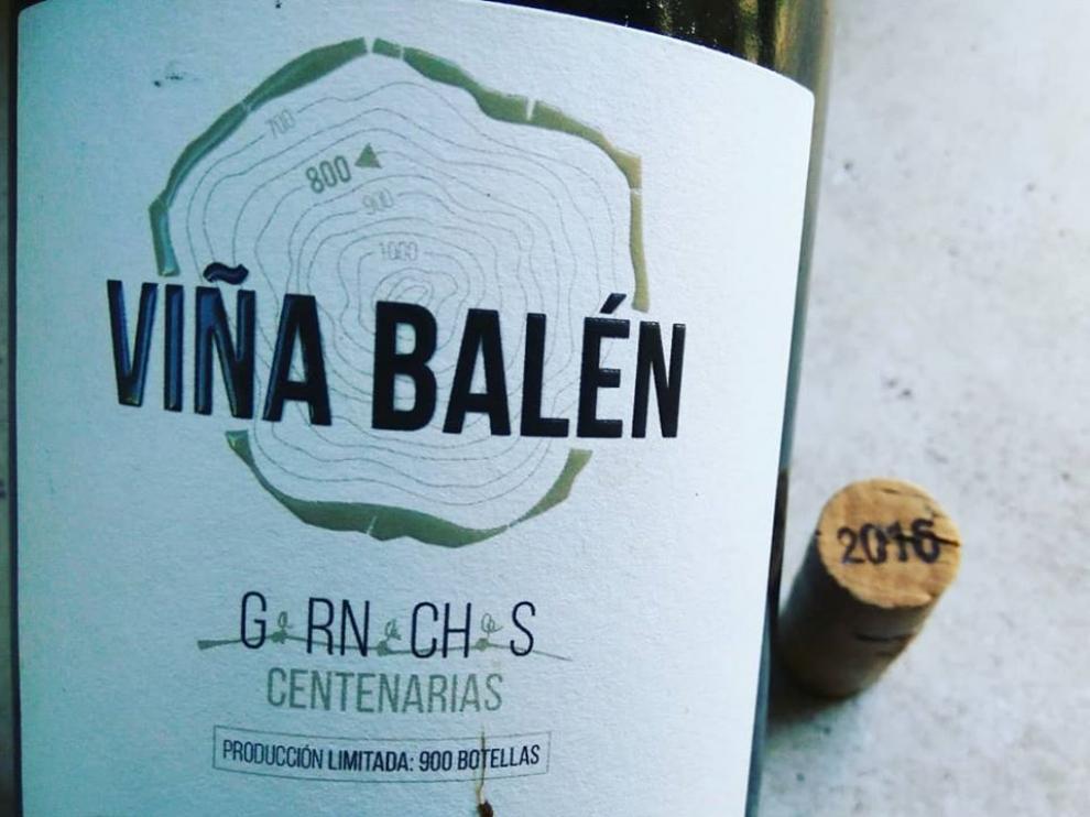 Etiqueta de la botella del vino Viña Balén 2016.