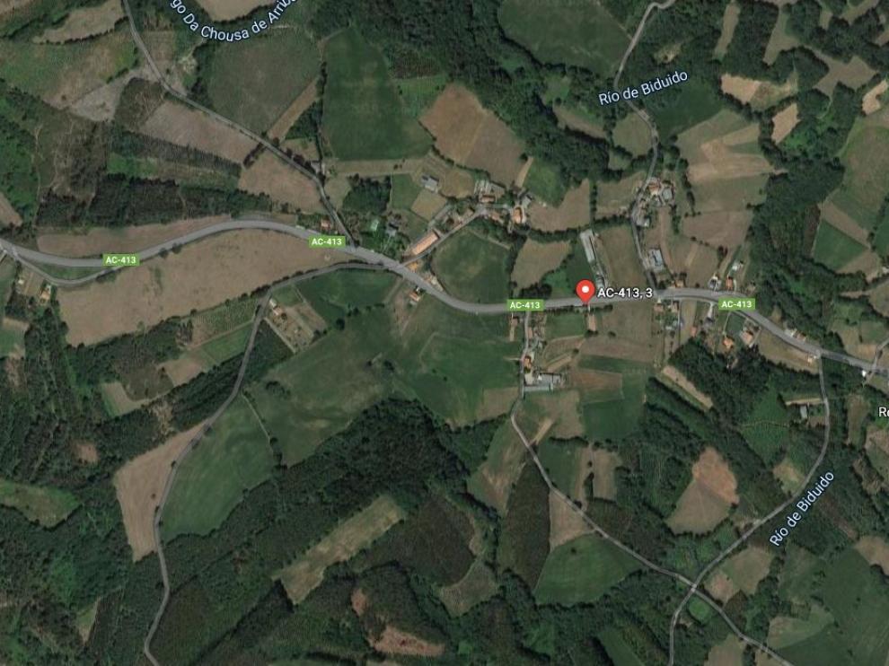 El accidente mortal se ha produjo la noche del domingo en la carretera AC-413, en el término coruñés de Cerceda