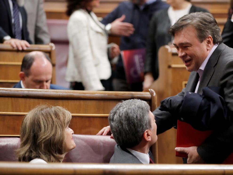 Guitarte, en la sesión definitiva de investidura de Pedro Sánchez, este martes.