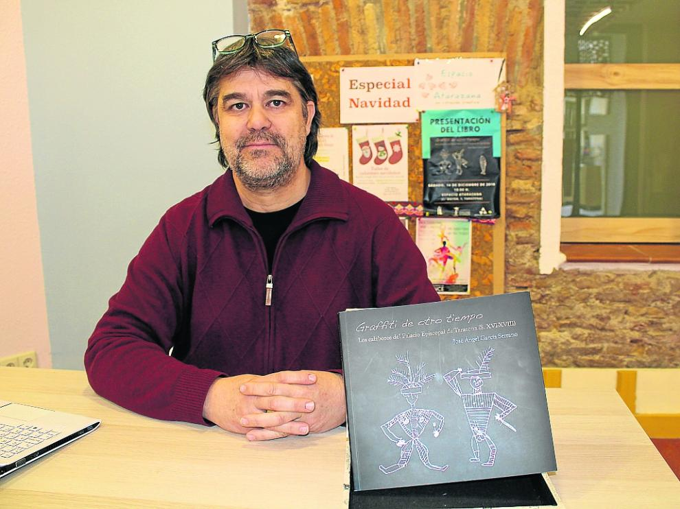 José Ángel García Serrano, durante la presentación del libro en Tarazona