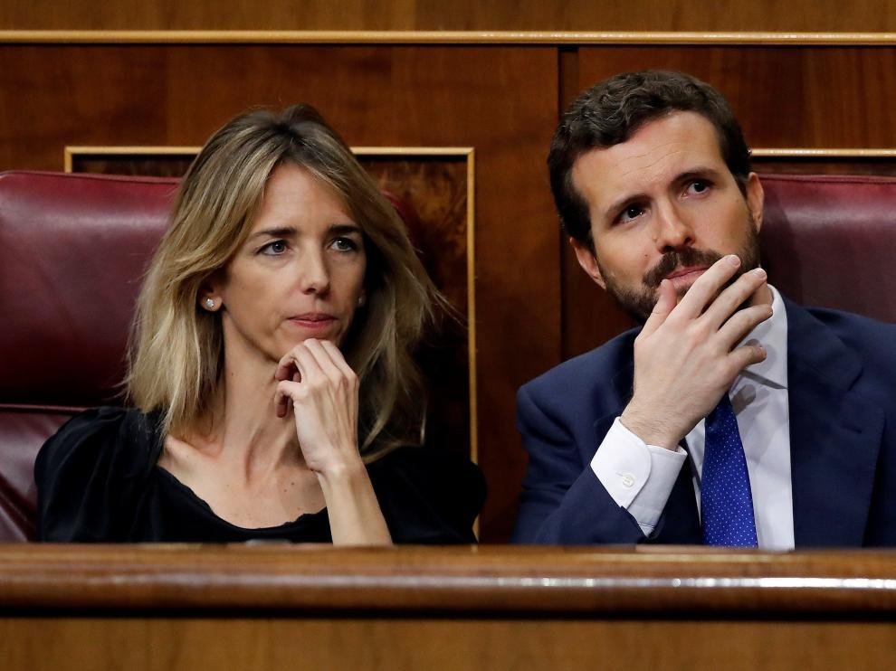 Pablo Casado en el debate de la investidura este martes.