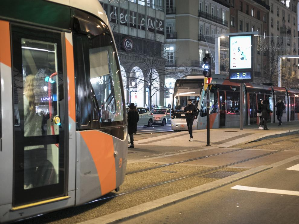 Avería del tranvía en el centro de Zaragoza