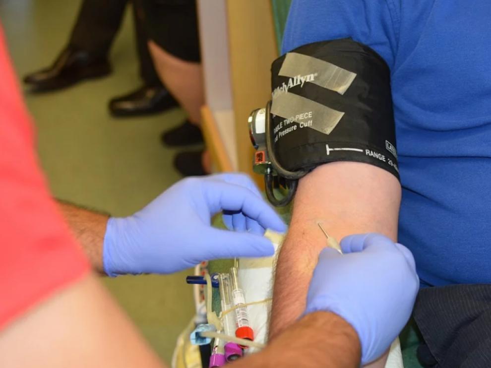 Donación de sangre, imagen de archivo.
