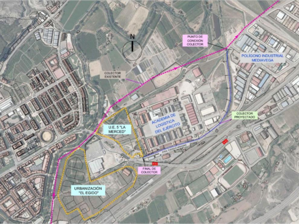 El nuevo colector pasará por la avenida de las Fuerzas Armadas