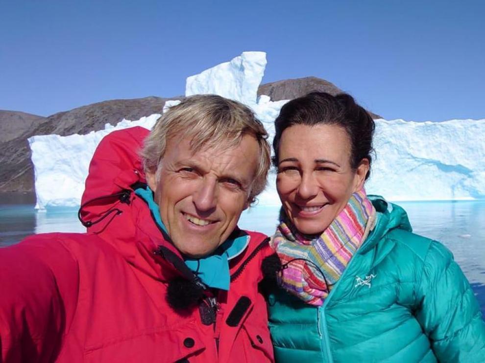 Ana Botín, en Groenlandia con Jesús Calleja
