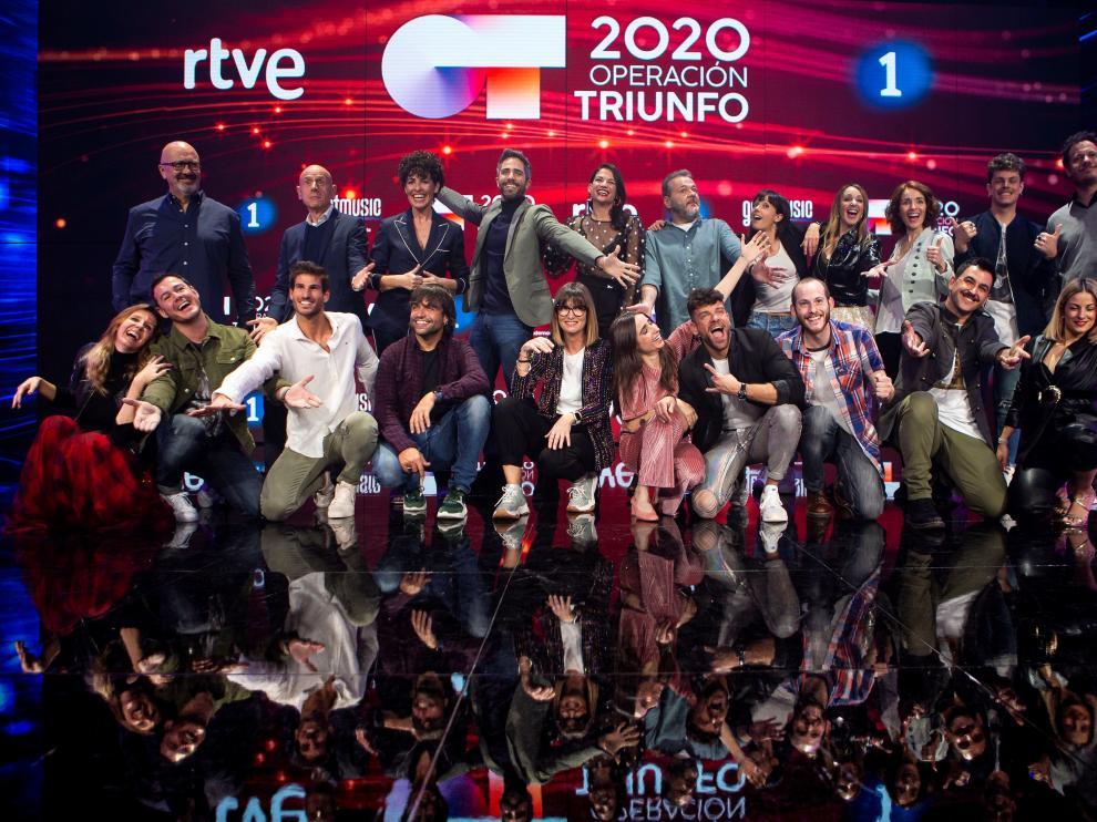 El equipo de 'OT2020', este jueves, en la presentación de la tercera edición.