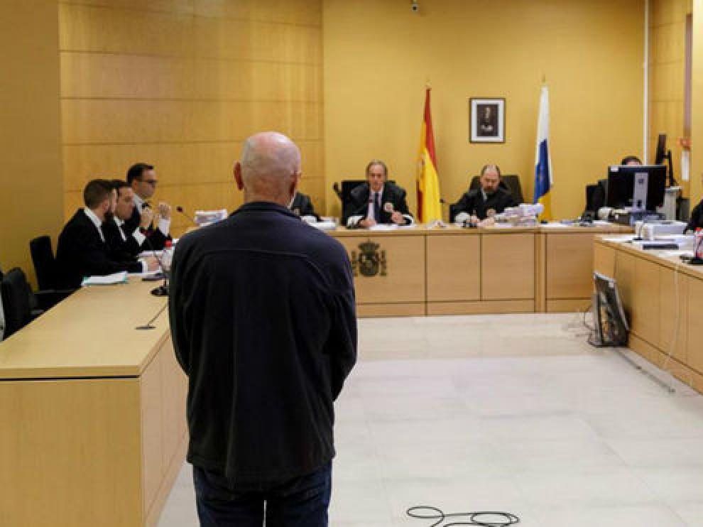 Miguel Ángel Millán, durante el juicio en la Audiencia Provincial de Tenerife.